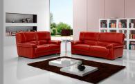 Червени кожени дивани по поръчка