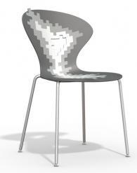 Дизайнерски стол тъмно и светло сив