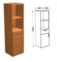 Шкаф за офис 1450х400х380мм цвят Елша