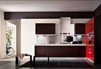 Кухненски мебели цвят венге
