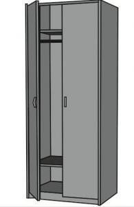 Офис гардероб с два рафта